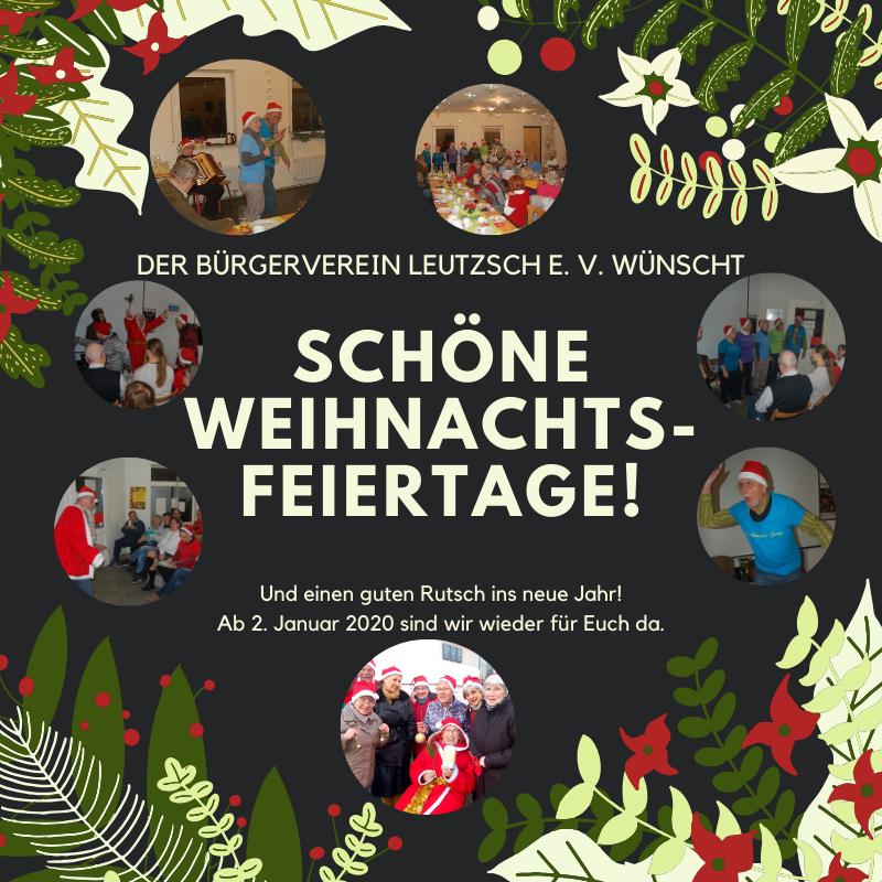 Bürgerverein Leutzsch wünscht schöne Weihnachtsfeiertage