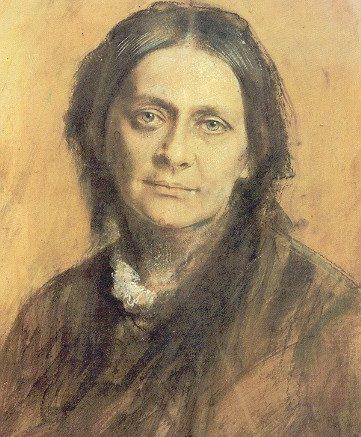 Ein Porträöt der Komponistin Clara Schumann.
