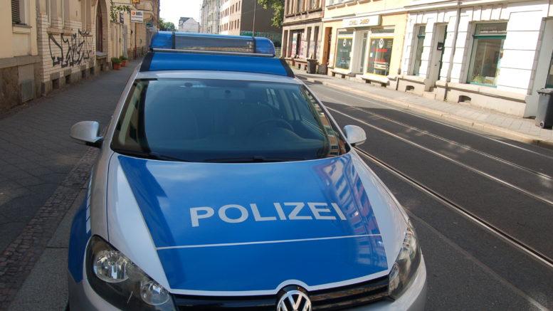Polizeiauto in Leutzsch