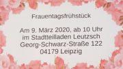 Ankündigung zum Frauentag im Rosenrahmen.
