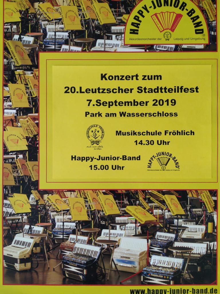 Die Musikschule Fröhlich ist wieder beim Stadtteilfest dabei. / Plakat: Musikschule Fröhlich
