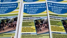 Flyer zum 20. Leutzscher Stadtteilfest.