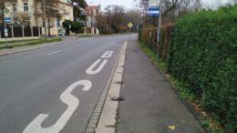 """Die Bushaltestelle """"Otto-Schmiedt-Straße"""""""
