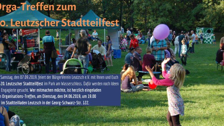 Einladung zum Orga-Treffen für das 20. Leutzscher Stadtteilfest.