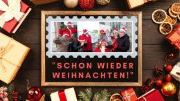 Die Kabarettgruppe in Weihnachtsstimmung.