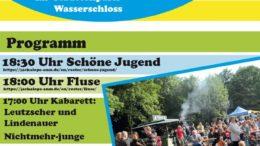 Das Plakat zeigt das Programm zum 20. Leutzscher Stadtteilfest. / Plakat: BV Leutzsch