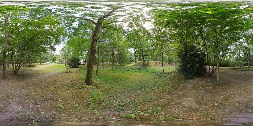 360-Grad-Blick in den Leutzscher Stadtteilpark Wasserschloss