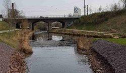 Blick auf den Karl-Heine-Kanal.